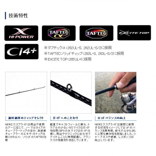 Shimano 19 Expride 265UL+-2