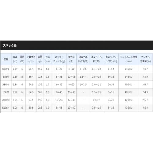 Shimano 19 Free Game XT S96ML