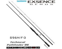 Shimano 19 Exsence Genos S96M/F-3
